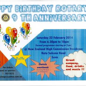 Come celebrate Rotary's Birthday- 22 Feb