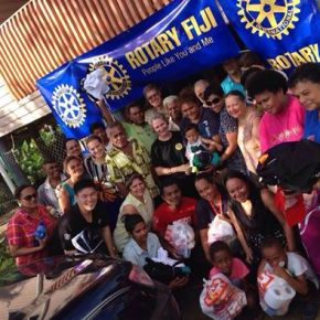 Qauia flood-affected families receive Rotary support