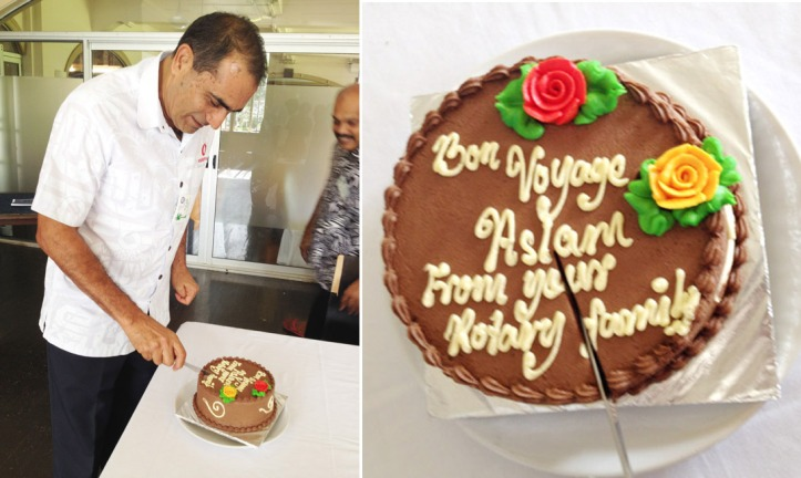 Aslam and cake