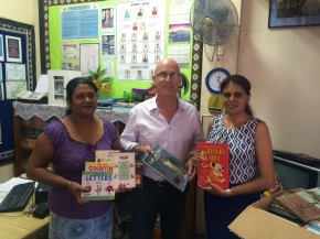 RCSE makes timely donation to school library