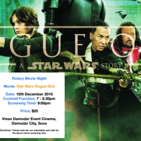 Rainy Day Plans: Watch Star Wars Rogue One! Tickets available at the door