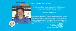 RCSE Welcomes Crystal Johnston, former Rotary Youth Exchangee